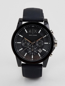 Armani Exchange Chasy S Silikonovym Remeshkom Ax1326 Outerbanks-chernyy 26464404