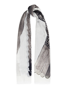 Woman Printed Cotton-gauze Scarf White Size -- Drkshdw By Rick Owens. Купить за 9300 руб. - Scarf Printed Cotton-gauze Dry clean Made in Italy