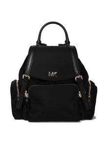 Woman Shell Backpack Black Size -- Michael Michael Kors. Купить за 16400 руб. - Backpack Shell Gold hardware Buckles Gold designer plaque Padded Zippe...