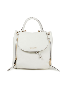Woman Pebbled-leather Backpack White Size -- Michael Michael Kors. Купить за 18200 руб. - Backpack Pebbled-leather Gold hardware Designer plaque Convertible Det...