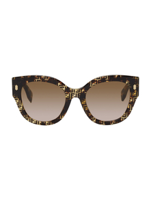 Fendi Tortoiseshell F Is Round Sunglasses 31265403
