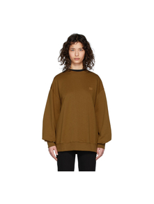 Brown Oversized Patch Sweatshirt Acne Studios. Купить за 11363 руб. - Long sleeve French terry sweatshirt in brown. Rib knit crewneck collar...