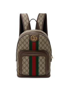 Beige Small GG Ophidia Backpack Gucci. Купить за 87876 руб. - Coated canvas backpack featuring logo pattern in beige and brown throu...