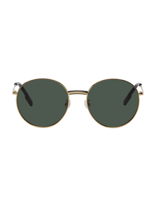 Gold and Green Endura Round Sunglasses Kenzo. Купить за 10606 руб. - Round metal-frame sunglasses in gold-tone. Green lenses with 100% UV p...