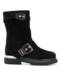 Baldinini Silver Buckled Boots 913563A13ZKID