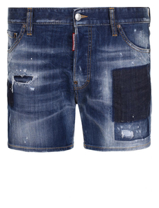 Dsquared2 Dzhinsovye Shorty S Potertostyami S71MU0486/S30342