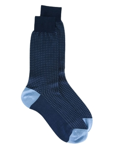 Canali Dotted Print Socks MC1L9RB1407CN11383331