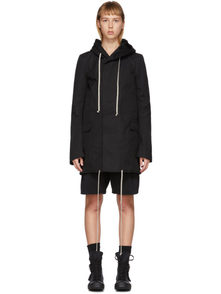Rick Owens Drkshdw Black Short Fishtail Parka 28216112