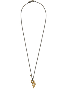 Vivienne Westwood Gunmetal And Gold Man. Avalon Fist Necklace 29093789