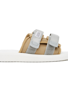 Suicoke Ssense Exclusive Beige And White Moto-cab Sandals 29300464