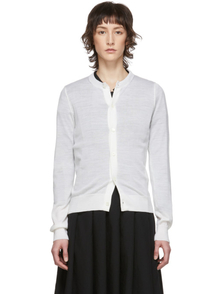Comme Des Garcons Comme Des Garcons White Worsted Wool Cardigan 28110270