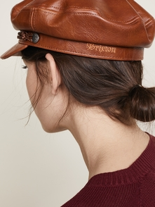 Brixton Fiddler Faux Leather Cap Hat 20420953