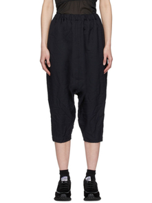 Comme Des Garcons Comme Des Garcons Navy Twill Pull-on Trousers 28168230