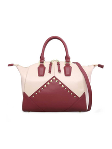 A-za Sumka ABB2706F1581 BURGUNDY AND BEIGE