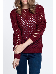 Ars Dzhemper BURGUNDY_JUMPER_ARS913048 RED