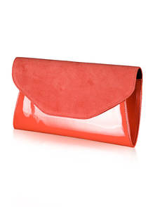 Felice Klatch FELICE_CLUTCH_BAG_F01B_CINNABAR ORANGE